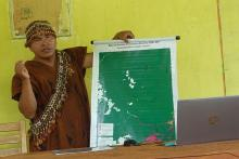 Photo of a member of the Yamino Native Community forest governance body