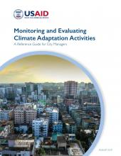 Monitoring and Evaluating CCA Activities reference guide cover page