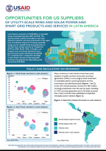 Opportunities for US Suppliers of Utility-Scale Wind and Solar Power and Smart Grid Products and Services in Latin America