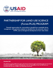 Partnership for Land Use Science (Forest-PLUS) Program: Potential Opportunities for Communities to Benefit from Sustainable Forest Management