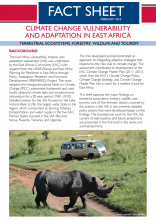 Climate Change Vulnerability and Adaptation in East Africa: Terrestrial Ecosystems, Forestry, Wildlife and Tourism
