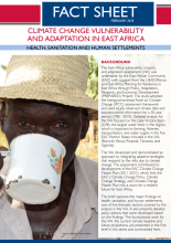 Climate Change Vulnerability and Adaptation in East Africa: Health, Sanitation and Human Settlements