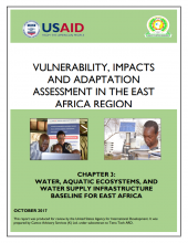 Vulnerability, Impacts and Adaptation Assessment in the East Africa Region: Water, Aquatic Ecosystems, and Water Supply Infrastructure Baseline for East Africa