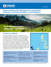 Improving Ecosystem Management to Strengthen Resilience to Extreme Weather in the Philippines