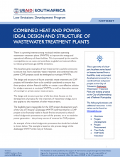 Photo Fact Sheet – Combined Heat and Power: Ideal Design and Structure of Wastewater Treatment Plants