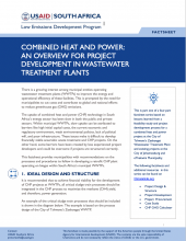Photo Fact Sheet - Combined Heat and Power: An Overview for Project Development in Wastewater Treatment Plants