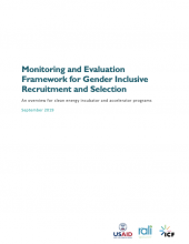 Cover photo Monitoring and Evaluation Framework for Gender Inclusive Recruitment and Selection