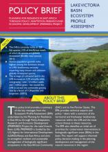 Policy Brief: Lake Victoria Basin Ecosystem Profile Assessment