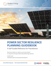 Power Sector Resilience Planning Guidebook: A Self-Guided Reference for Practitioners Photo