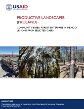 Productive Landscapes: Community-Based Forest Enterprise in Mexico: Lessons from Selected Cases