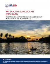Productive Landscapes: Prioritizing Investments in Land-Based CLIMATE MITIGATION IN PAPUA NEW GUINEA