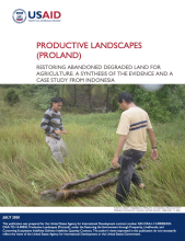Productive Landscapes: Restoring Abandoned Degraded Land for Agriculture: A Synthesis of the Evidence and a Case Study from Indonesia photo