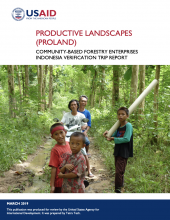 Productive Landscapes: Community-Based Forestry Enterprises Indonesia Field Verification Report photo