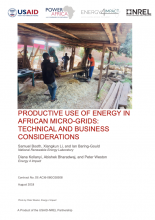 Productive Use of Energy in African Micro-Grids photo