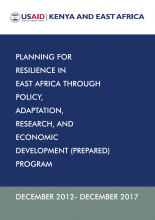 Planning for Resilience in East Africa Through Policy, Adaptation, Research, and Economic Development (PREPARED) Program Factsheet