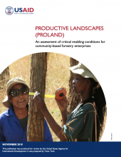 Proland Assessment of critical enabling conditions for community-based forestry enterprise