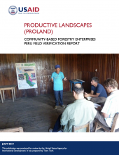 Productive Landscapes: Community-Based Forestry Enterprises Peru Field Verification Report Photo