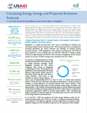 Calculating Energy Savings and Projected Emissions Reduced - Bangladesh Case Study