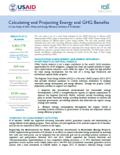 Calculating and Projecting Energy and GHG Benefits - El Salvador