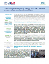 Calculating and Projecting Energy and GHG Benefits