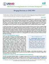 Bringing Harmony to GHG MRV