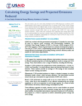 A Case Study of Industrial Energy Efficiency Activities in Colombia