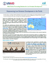 Empowering Low Emission Development in the Pacific
