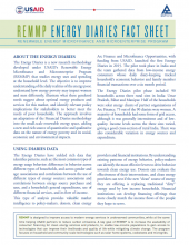 REMMP Energy Diaries fact sheet cover page
