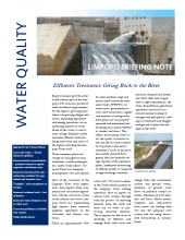 Limpopo Briefing Note - Effluents Treatment: Giving Back to the River