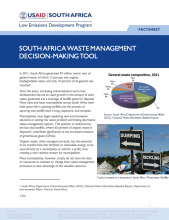 Photo Fact Sheet - South Africa Waste Management Decision-Making Tool