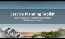 SERVIR Service planning toolkit screenshot