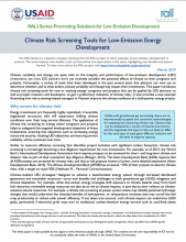 Rali Climate Risk Screening Tools
