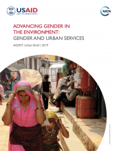 Cover Photo Advancing Gender in the Environment: Gender and Urban Services