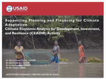 Adaptation Community Meeting: Supporting Planning and Financing for Climate Adaptation