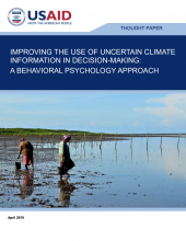 Improving the Use of Uncertain Climate Information in Decision-Making: A Behavioral Psychology Approach Photo