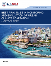 Best Practices in Monitoring and Evaluation of Urban Climate Adaptation: A Literature Review