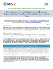 Power System and Municipal Resilience in the Dominican Republic: Learning in Real-Time Following Hurricanes Irma and Maria Photo