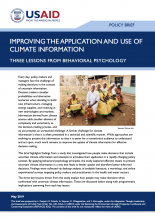 Cover photo for Improving the Application and Use of Climate Information: Three Lessons from Behavioral Psychology