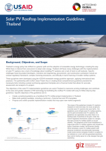 Solar PV Rooftop Implementation Guidelines: Thailand