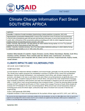 Climate Information Factsheet: Southern Africa