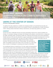 Spotlight Series: Learning Agenda on Climate Services photo