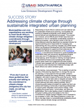 Success Story - Addressing Climate Change through Sustainable Integrated Urban Planning photo