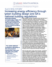 Success Story - Increasing Energy Efficiency through Green Building Design and South Africa's National Building Regulations photo