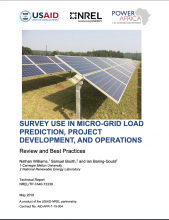 Survey Use in Micro-Grid Load Prediction, Project Development, and Operations Photo