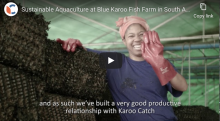 Sustainable aquaculture at Blue Karoo Fish farm photo