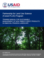 Training Manual for Sustainable Management of Non-Timber Forest Products in Himachal Pradesh Landscape