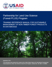 Training Reference Manual for Sustainable Management of Non-Timber Forest Products in Shivamogga