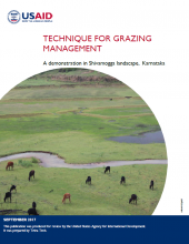 Technique for Grazing Management: A Demonstration in Shivamogga Landscape, Karnataka