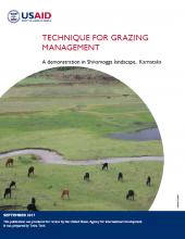 Technique for Grazing Management: A Demonstration in Shivamogga Landscape, Karnataka