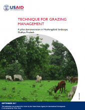 Technique for Grazing Management: A Pilot Demonstration in Hoshangabad Landscape, Madhya Pradesh